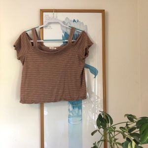 Madewell cold shoulder cropped top